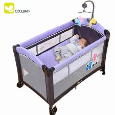 Folding Cot Bed Coolbaby Multi Functional Bed Portable Folding Crib Playpen