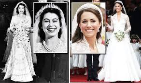 s wedding dress elizabeth s wedding dress value vs kate middleton s gown