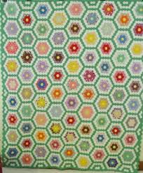 small scale grandmothers flower garden quilt sold cindy