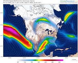 Jet Stream Map Crazy Wavy Jet Stream U S Canada Robertscribbler
