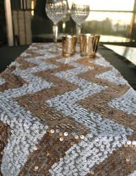 chevron sequin table runner champagne u0026 white 12 x 108 from
