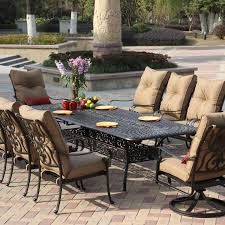 Best Price Cast Aluminum Patio Furniture - darlee santa anita 11 piece cast aluminum patio dining set with