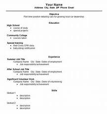 high school resumes resume template for high school students