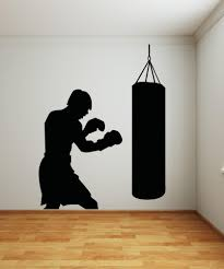 sports wall stickers sports decals for walls stickerbrand vinyl wall decal sticker punching bag os aa686
