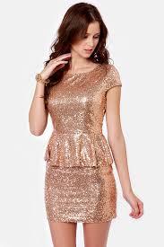 peplum dress lovely gold dress sequin dress peplum dress 57 00