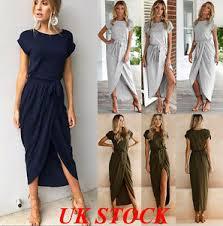 uk women short long sleeve evening cocktail party dress ladies