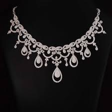 platinum necklace diamond images Ayushmati diamond studded platinum necklace jpg