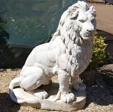 lion garden statue sitting lion sculpture search series idea