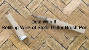 Glitter Laminate Flooring Deal With It Refilling Wink Of Stella Youtube