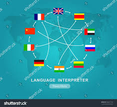 Cool Flags Vector Detailed Language Translator Concept Flags Stock Vector