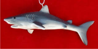 great white shark personalized ornaments by