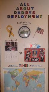 make a deployment wall for the kids helps them feel so much
