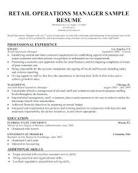 operations manager resume retail operation manager resume operations manager sle resume
