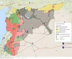 Map Of Israel And Syria by Agathocle De Syracuse Syria Areas Of Control 1 June 2015