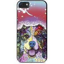 australian shepherd iphone 4 case phone case neon german shepherd 2 artopia