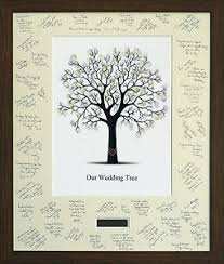 tree signing for wedding personalised wedding guest signing signature frame with