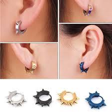 cool earrings new cool stainless steel clip earrings personalized tide men