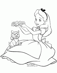 disney colouring pages alice wonderland wonderful coloring