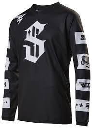 motocross jersey numbers shift recon checkers jersey revzilla