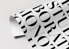 hm design h m typography the studio