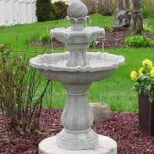 Outdoor Water Features With Lights by Outdoor Fountains