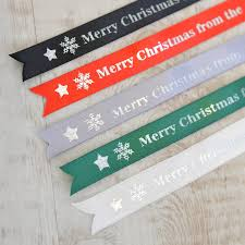 merry christmas ribbon personalised christmas ribbon by a type of design