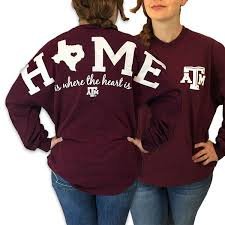 texas a u0026m aggies women u0027s home spirit jersey long sleeve oversized