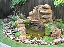 large rock pond backyard waterfall landscaping kits small pond