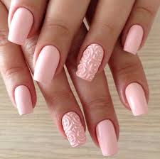 pink acrylic 3d rose flowers nail idea jpg 610 608 all about