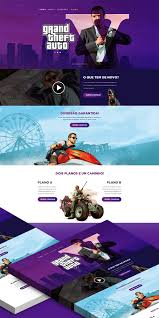 gta v game website landing page free psd download download psd