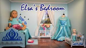 Frozen Elsa Bedroom American Dolls Elsa U0027s Bedroom Youtube