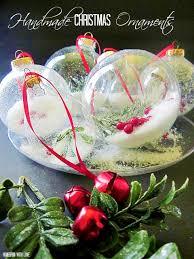 homespun with pretty handmade ornaments