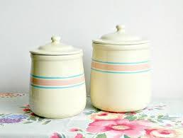 pink kitchen canister set 357 best vintage kitchen serving images on vintage