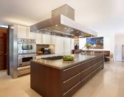 beautiful kitchen with long island design feat marble countertop