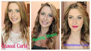 different ways to curl your hair with a wand 3 ways to curl your hair spreadinsunshine15 youtube