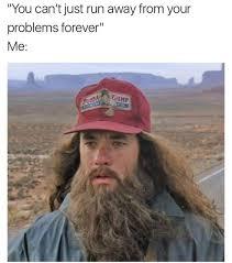 Running Meme - running away from problems russian memes