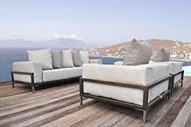 amazon com solis patio nubis deep seated sofa for indoor or