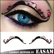 beautiful design eyeliner tattoo sticker eye temporary tattoo