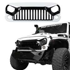 jeep wrangler front grill white paint angry bird front grill grille for jeep wrangler 07 18 jk
