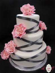 pink and gray wedding cakes themes wedding