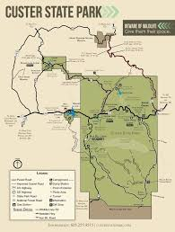 Robbers Cave State Park Map Custer State Park Maplets
