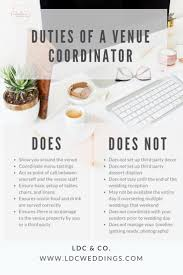 day of wedding coordinator venue coordinator vs wedding coordinator ldc co