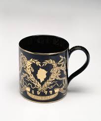 commemorative mug for the silver jubilee of queen elizabeth ii