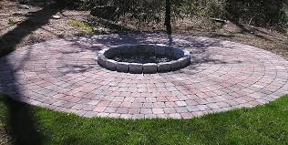 Stone Patio With Fire Pit Paver Fire Pit Dimensions Part 20 Fire Pit Traditional Patio