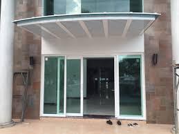 arch shape aluminium polycarbonate canopy with aluminium trellis