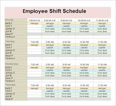 sample employee schedule 13 documents in pdf word