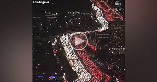 of thanksgiving traffic on la freeway will give you all