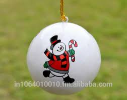 snowman handmade baubles painted