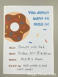 how to host a donuts with dad in your preschool classroom happy