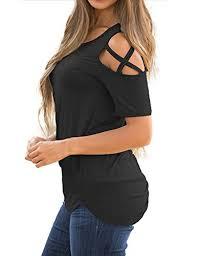 criss cross blouse lookbook store s casual crisscross cold shoulder basic t